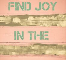 FIND JOY IN THE ORDINARY  motivational quote by Stanciuc
