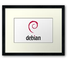 Powered By DebIan ! Framed Print