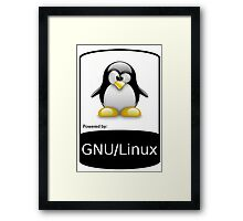 powered by GNU/LINUX ! Framed Print