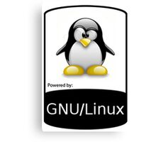 powered by GNU/LINUX ! Canvas Print
