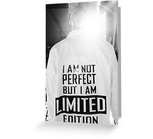 Rap Monster I AM NOT PERFECT BUT I AM LIMITED EDITION Greeting Card