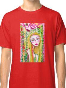 Girl in the Garden 1 Classic T-Shirt