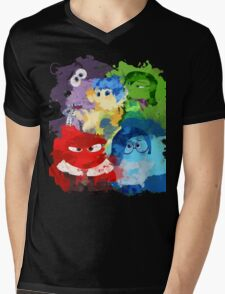 Inside Out Mens V-Neck T-Shirt