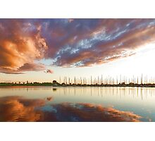 Reflecting on Yachts and Clouds - Lake Ontario Impressions Photographic Print