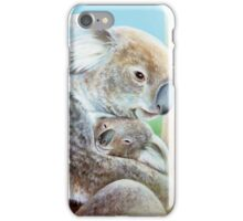 """The Koala cuddle"" portrait fine art iPhone Case/Skin"