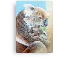 """The Koala cuddle"" portrait fine art Canvas Print"
