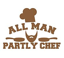 All man Partly chef Photographic Print