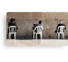 Three at The Wall Canvas Print