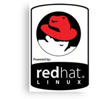 powered by RedHat ! Canvas Print