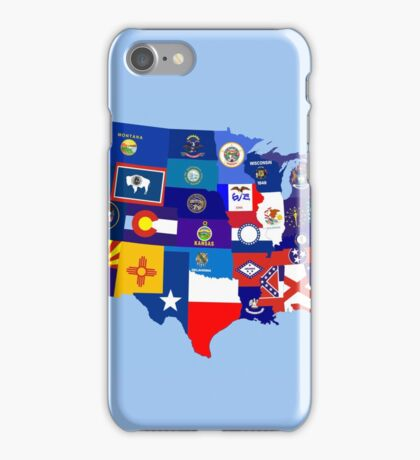 usa states flag map iPhone Case/Skin