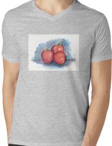 Three Apples Mens V-Neck T-Shirt