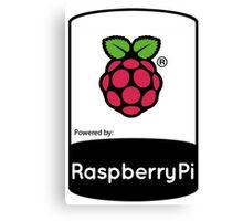 powered by raspberryPi Canvas Print