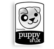 powered by puppy ! Canvas Print
