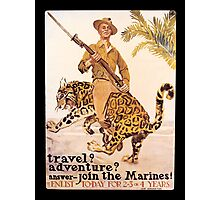 Travel Adventure U.S. Marines Vintage Photographic Print