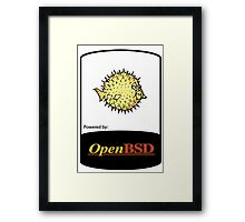 powered by openBSD ! Framed Print