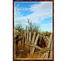 Unmended Fences Photographic Print