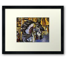 Childhood Dreams - A Feather in His Hair Framed Print