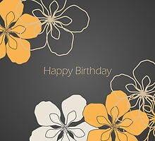 Frangipani Birthday Card by RumourHasIt
