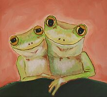 Frogs in Love by Deb Coats
