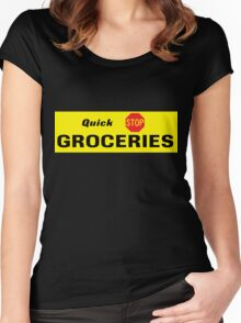 Quick Stop Groceries Women's Fitted Scoop T-Shirt