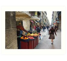 Fruit Stand in Bordeaux, France Art Print