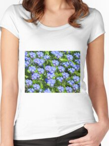 Forget Me Not - Macro Women's Fitted Scoop T-Shirt