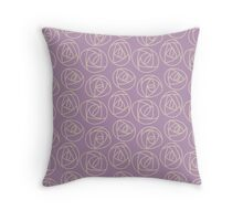 Rose doodle - lavender Throw Pillow