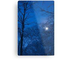 Snowstorm Moonrise Metal Print