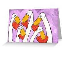 A gaggle of love Greeting Card