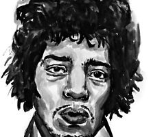 Jimi Hendrix by Jenna Dickinson