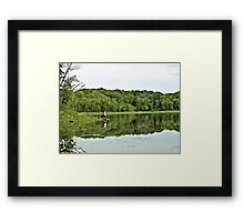 Reflections At Lebanon Hills Park Framed Print