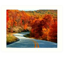 Blazing The Ozark Trails Art Print