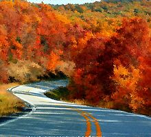 Blazing The Ozark Trails by NatureGreeting Cards ©ccwri