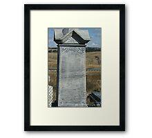 Wounded Knee Grave Marker Framed Print