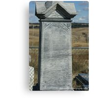 Wounded Knee Grave Marker Canvas Print