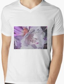 Pretty White Rhododendron with Magenta T-Shirt
