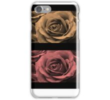 Monochrome Water-Painted Roses iPhone Case/Skin