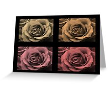 Monochrome Water-Painted Roses Greeting Card