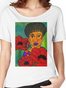 She Loves Poppies Women's Relaxed Fit T-Shirt