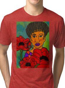 She Loves Poppies Tri-blend T-Shirt