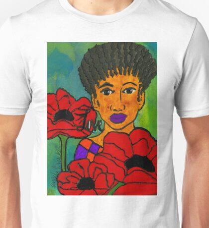 She Loves Poppies Unisex T-Shirt