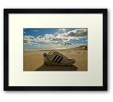 Man and nature Framed Print