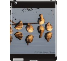 Mirrored Dowitchers iPad Case/Skin