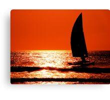 Sail Sunrise Canvas Print