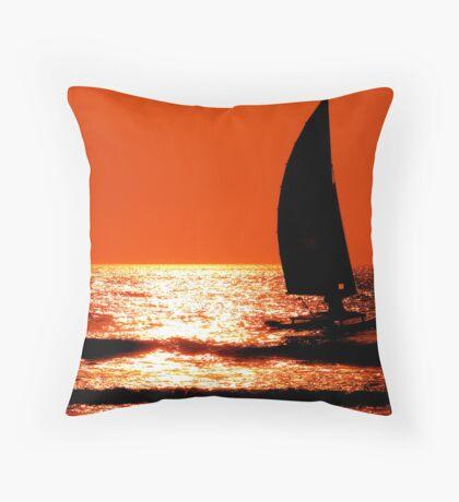 Sail Sunrise Throw Pillow