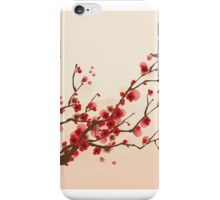 Whimsical Red Cherry Blossom Tree iPhone Case/Skin