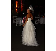 Zoe A Beautiful Bride Photographic Print