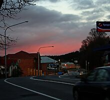 Lithgow at sunset by Evita