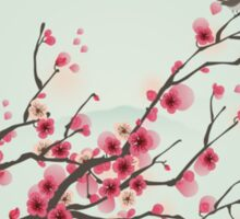 Whimsical Pink Cherry Blossom Tree Sticker