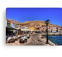 Crazy Paving and Tablecloths Canvas Print